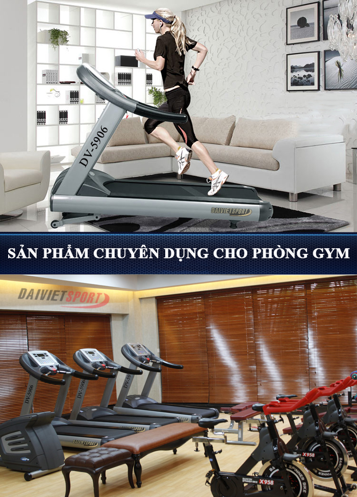máy chạy bộ điện DV-5906 phòng gym