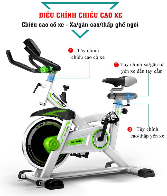 Yên Xe đạp tập thể thao DV-6415